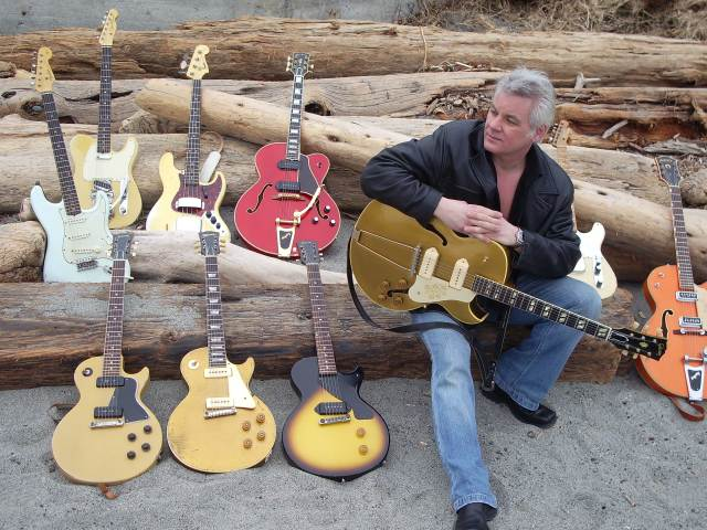Gord Miller with some Pre-CBS and McCarty-era driftwood he collected at the beach